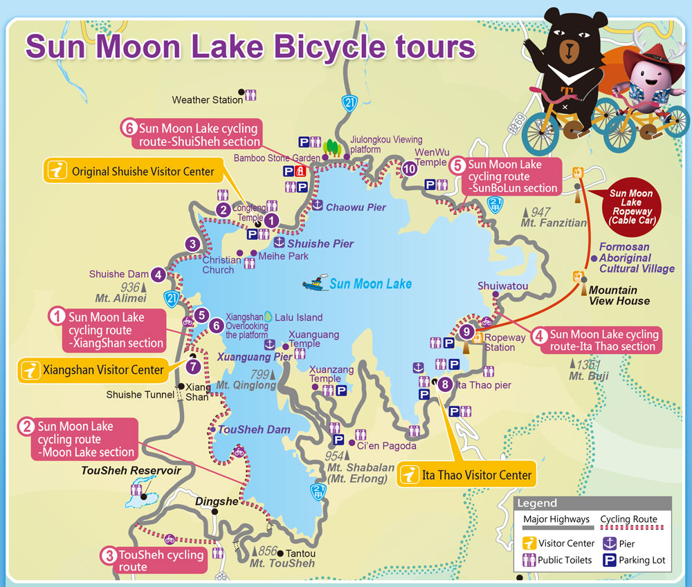 sunmoonlake bicycle tours